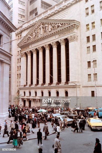 View of the New York Stock Exchange on October 19 1987 after the market was devastated after panic selling sent Dow Jones plummeting over 500 points...