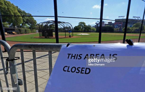 A view of the New York Yankees Spring Training facility at George M Steinbrenner Field which has been closed due to the coronavirus outbreak on March...
