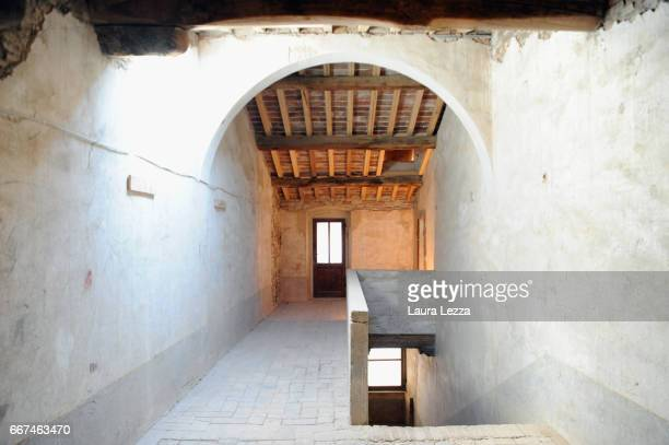 A view of the newly renovated attic of the estate medicea di Cafaggiolo one of the most important and historical residences of the Medici family...