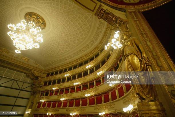 A view of the newly renovated Teatro Alla Scala on November 12 2004 in Milan Italy The building the most famous opera theatre in Italy will be...