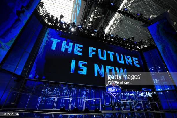 A view of the NFL Draft theater prior to the start of the first round of the 2018 NFL Draft at ATT Stadium on April 26 2018 in Arlington Texas