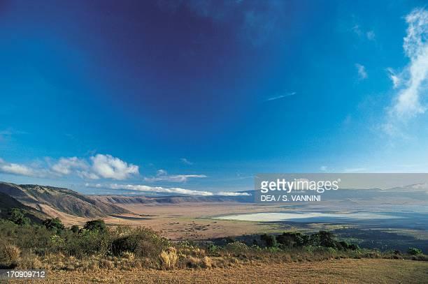 View of the Ngorongoro Crater Ngorongoro Conservation Area Tanzania