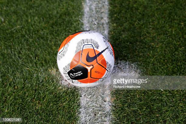 A view of the Nike Merlin official Premier League match ball on the centre spot during the Premier League match between Manchester United and Watford...
