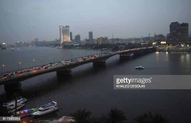 A view of the Nile River in the Egyptian capital Cairo on February 12 2018 / AFP PHOTO / KHALED DESOUKI