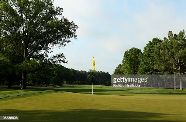 View of the ninth green during Quail Hollow Championship at Quail Hollow Country Club on May 1, 2010 in Charlotte, North Carolina.