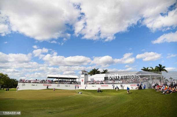 View of the ninth green during the final round of The Honda Classic at PGA National Champion course on March 1 2020 in Palm Beach Gardens Florida