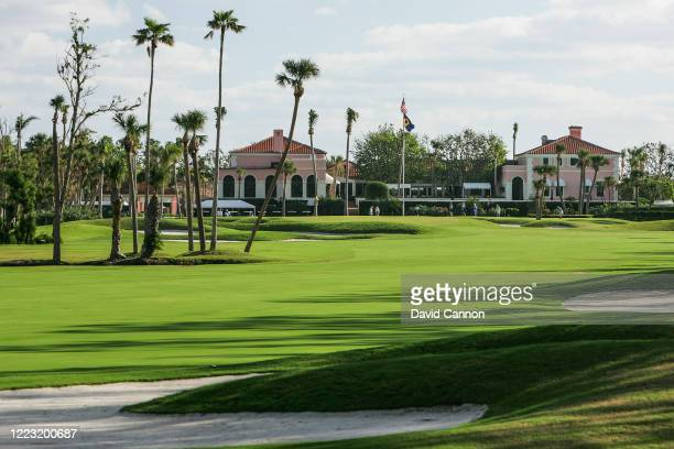 View of the ninth hole with the clubhouse behind at Seminole Golf Club on November 29, 2004 in Juno Beach, Florida.