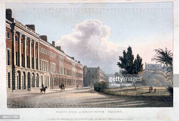 View of the north side of Grosvenor Square, Westminster, London, 1813.