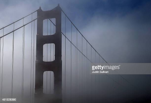 A view of the north tower of the Golden Gate Bridge on June 27 2014 in Sausalito California The Golden Gate Bridge district's board of directors...