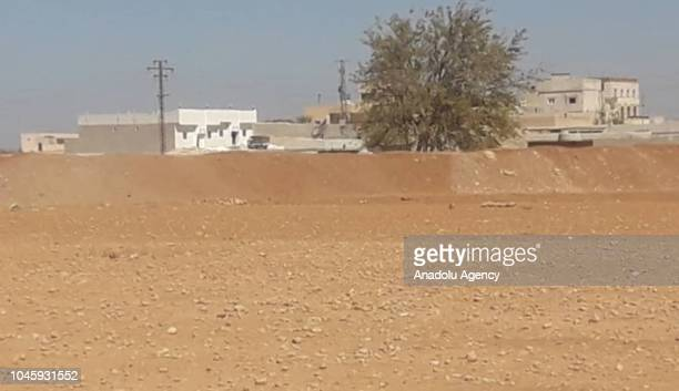 A view of the northern Syrian city of Manbij after YPG/PKK terror groups dug trenches and constructed earth banks on October 04 2018