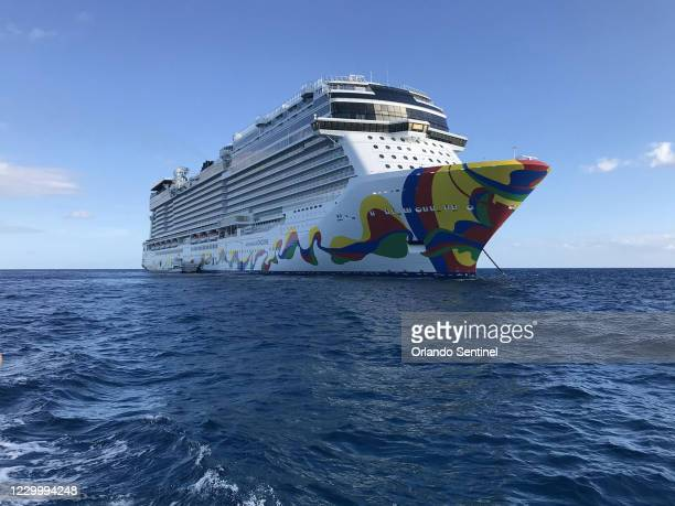 View of the Norwegian Encore cruise ship during its inaugural sailing from PortMiami, which took place from Nov. 21-24, 2019.