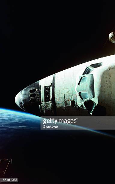 View of the nose of space shuttle