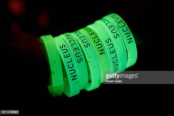 A view of the Nucleus glow bands at the 2016 Advertising Week New York Wrap Party on September 29 2016 in New York City
