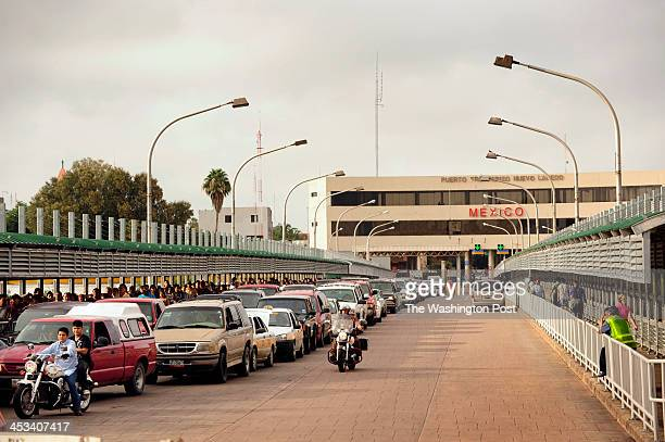LAREDO TX View of the Nuevo Laredo port of entry one of several where US Border Patrol ICE and Customs and Border Protection agents check cars for...