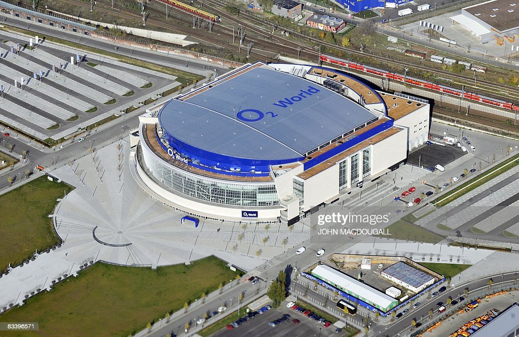 View of the O2 World arena taken through : News Photo