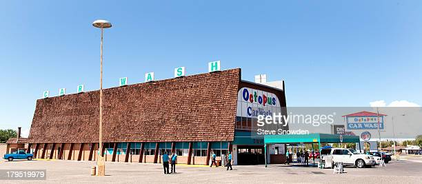 A view of The Octopus Car Wash on August 31 2013 in Albuquerque New Mexico This car wash has been a part of 'Breaking Bad' since Season 1 when Walter...