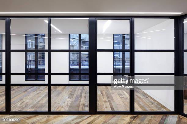 View of the office spaces with reclaimed 16th Century flooring 54 Brooks Mews London United Kingdom Architect Stiff Trevillion Architects 2016