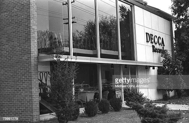 A view of the offices and studios of Decca Records in the area known as Music Row in October 1965 in Nashville Tennessee