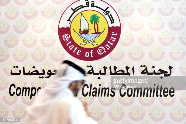 A view of the offices of the Compensation Claims Committee in Doha on July 27 2017 to help people affected by the diplomatic crisis rocking the Gulf...
