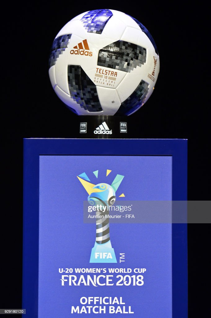 Womens World Cup France  Pictures Embed Embedlicense A View Of The Official Match Ball During The Official Draw For The Fifa U