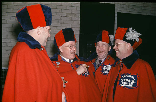 A view of the officials during the StPaul Winter Carnival in StPaulMinnesota