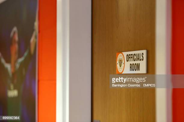 A view of the Officials Room at Bloomfield Road