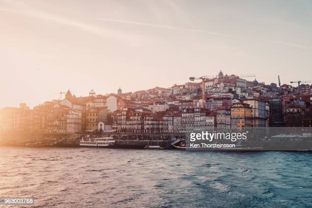 view of the old city of porto, portugal - portugal stock pictures, royalty-free photos & images