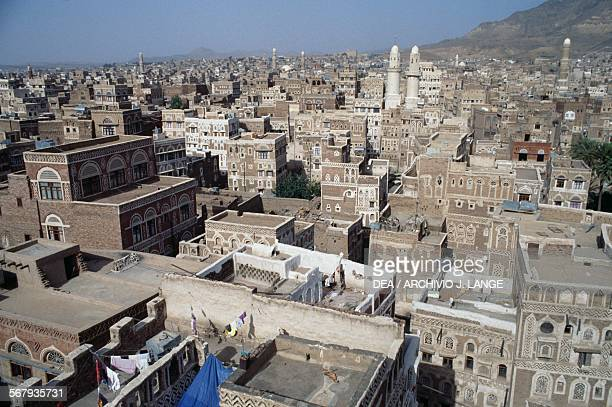 View of the old city of Sana'a or San'a Yemen