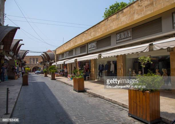 A view of the old pedestrian souk Mount Lebanon Governorate Byblos Lebanon on April 29 2017 in Byblos Lebanon