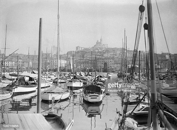 View Of The Old Port Of Marseille In Les BouchesDuRhone In 1930