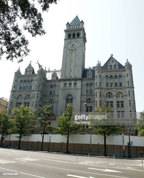 View of the Old Post Office building before its conversion into the new Trump International Hotel Washington on July 23, 2014 in Washington, DC.