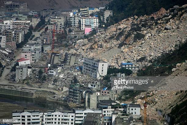 A view of the old town area which was devastated in the May 12 Sichuan Earthquake and is now trying to gain UNESCO world cultural heritage status as...