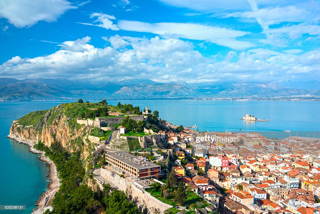 View of the old town, Nafplio, Argolis, Greece : Stock Photo