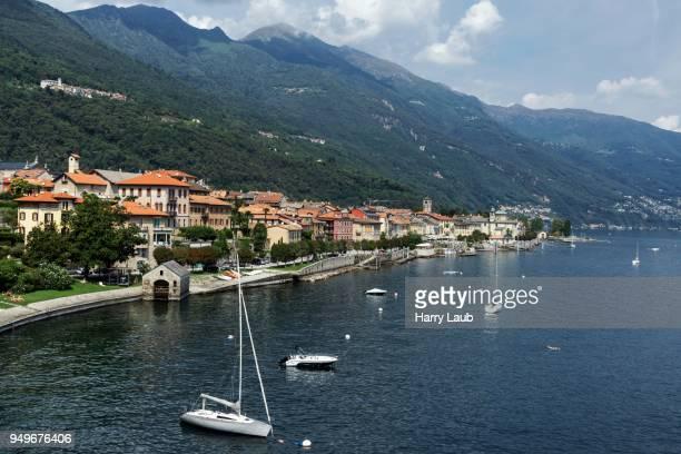 View of the Old Town of Cannobio, Lago Maggiore, Verbano-Cusio-Ossola Province, Piedmont Region, Italy