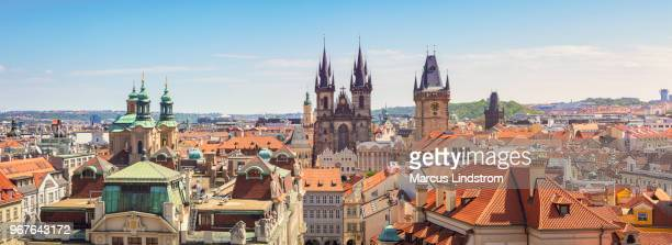 view of the old town of prague - czech republic stock pictures, royalty-free photos & images