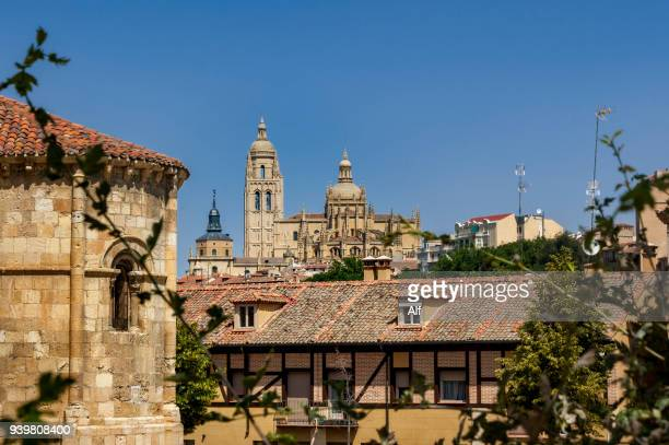 view of the old town of segovia , segovia, spain - segovia stock pictures, royalty-free photos & images