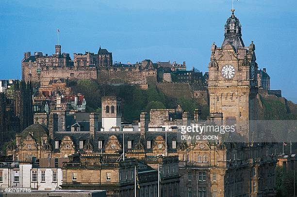 A view of the old town with the castle in the background Edinburgh Scotland United Kingdom