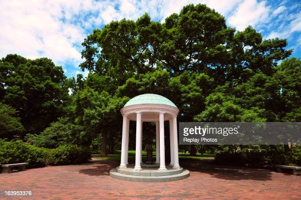 A view of the Old Well on campus of the University of North Carolina on June 6 2012 in Chapel Hill North Carolina