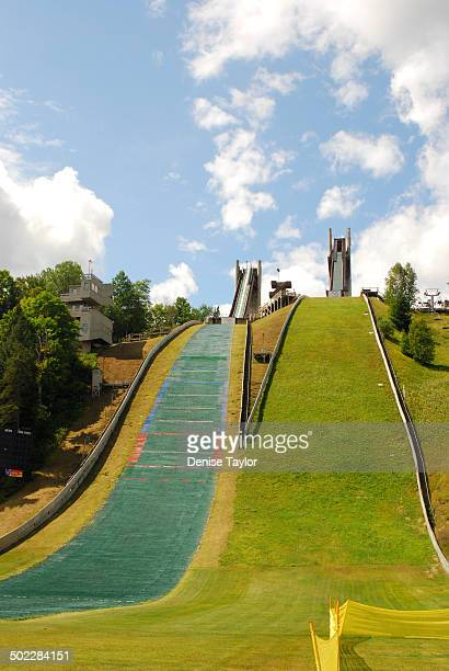 View of the Olympic ski jump in Lake Placid New York The ski jump was built for the 1980 Winter Olympics