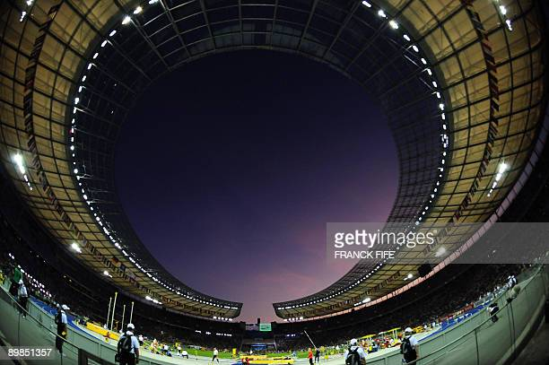 View of the Olympic Stadium taken during the 2009 IAAF Athletics World Championships on August 15 2009 in Berlin AFP PHOTO / FRANCK FIFE