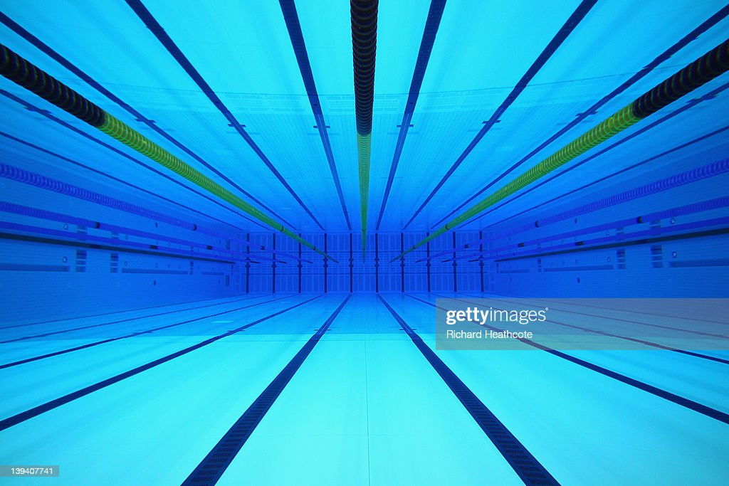 A View Of The Olympic Swimming Pool From An Underwater Window In Lane 4 At  The