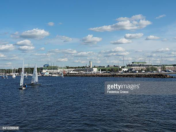 view of the olympic village in tallinn, estonia, northern europe - harjumaa stock pictures, royalty-free photos & images