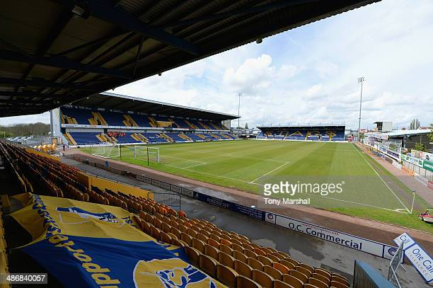 A view of the One Call Stadium home of Mansfield Town FC before the Sky Bet League Two match between Mansfield Town and Torquay United at One Call...