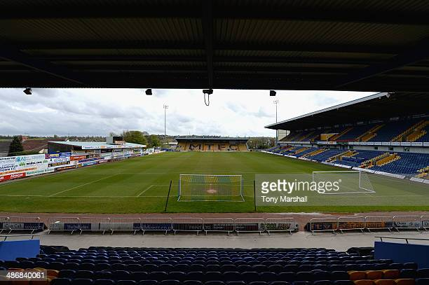 View of the One Call Stadium, home of Mansfield Town FC before the Sky Bet League Two match between Mansfield Town and Torquay United at One Call...