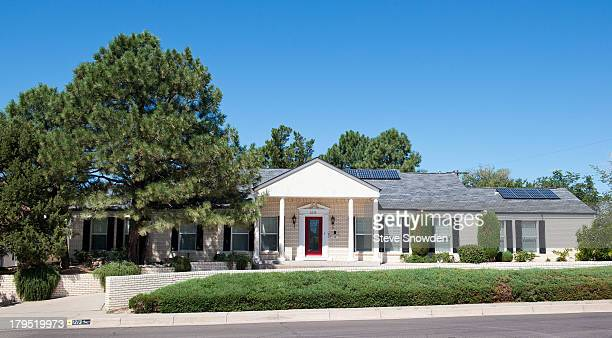 A view of the one story ranch style home used in 'Breaking Bad' for the character Gustavo Fring on August 31 2013 in Albuquerque New Mexico Exterior...