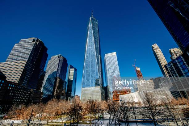 View of the One World Trade Center building on March 05, 2021 in New York City.