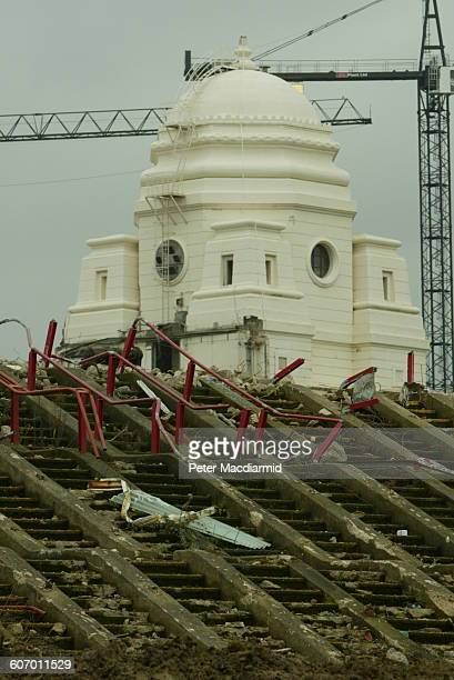 View of the ongoing demolition of the original Wembley Stadium London England February 8 2003