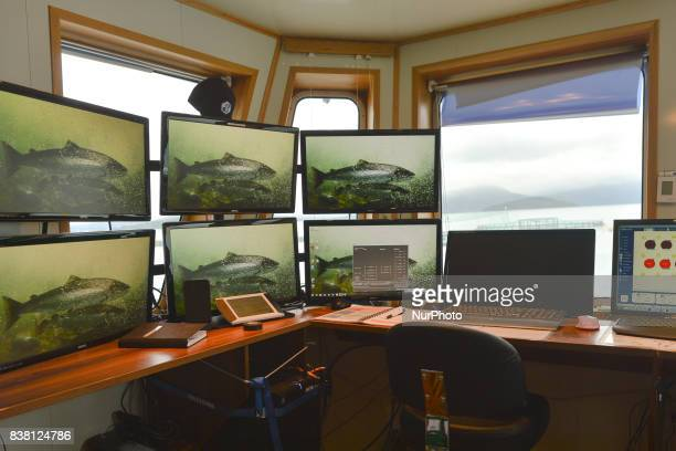 A view of the operation room on a salmon farmboat 'Sulatind' near Rolla and Andorja Island Norway Royal Salmon informed that its operating revenue...