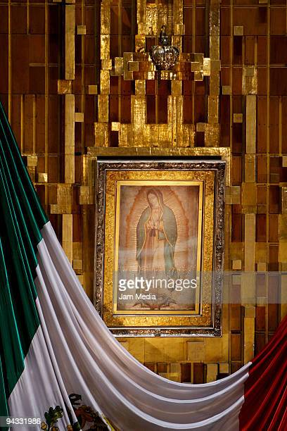 View of the original image of the Virgin of Guadalupe during the celebration of the Virgin of Guadalupe on December 12 2009 in Mexico City Mexico...
