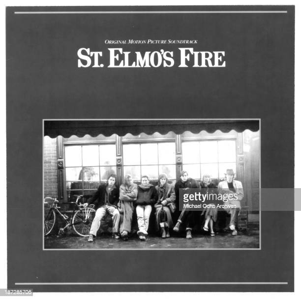 """View of the Original Motion Picture sound track album of Columbia Pictures movie """"St. Elmo's Fire"""" in 1985."""